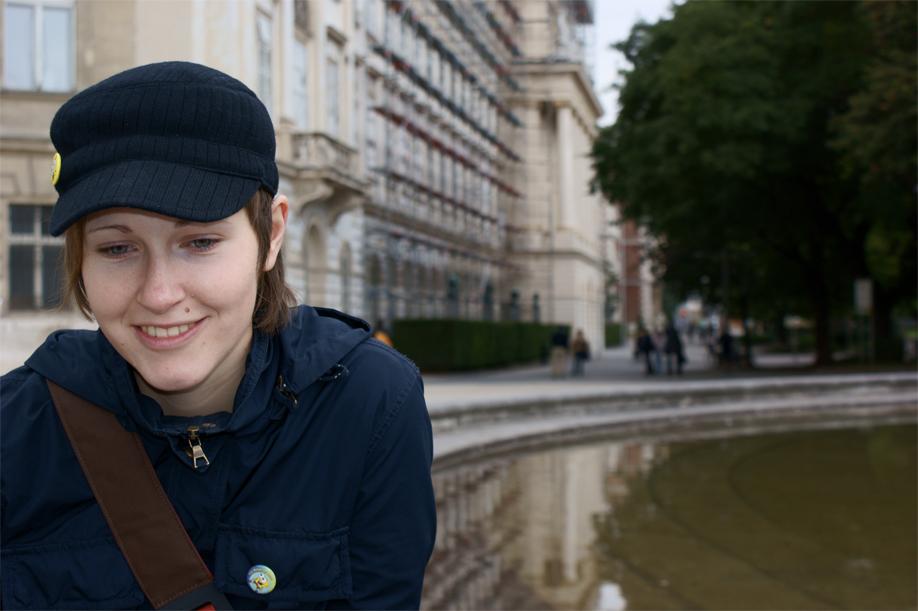 Ein Lächeln am Karlsplatz