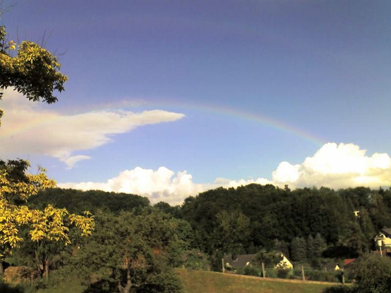 Ein leichter Regenbogen