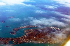 Ein letzter Blick aus dem Flieger auf Venedig
