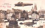 Ein Luftschiff in voller Fahrt über Köln 1909