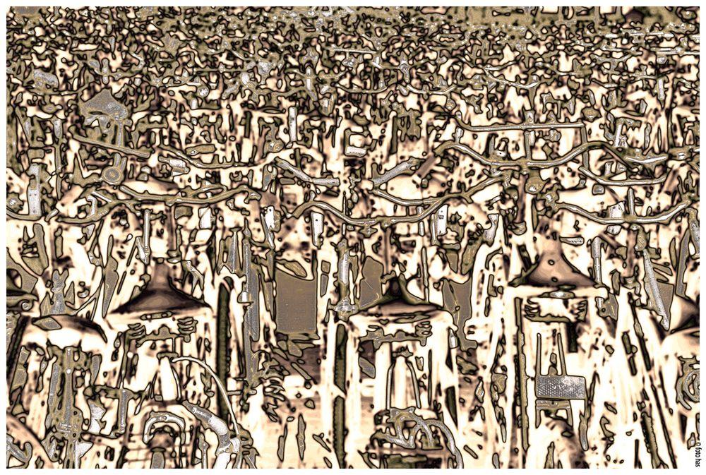 Ein Meer von Fahrrädern