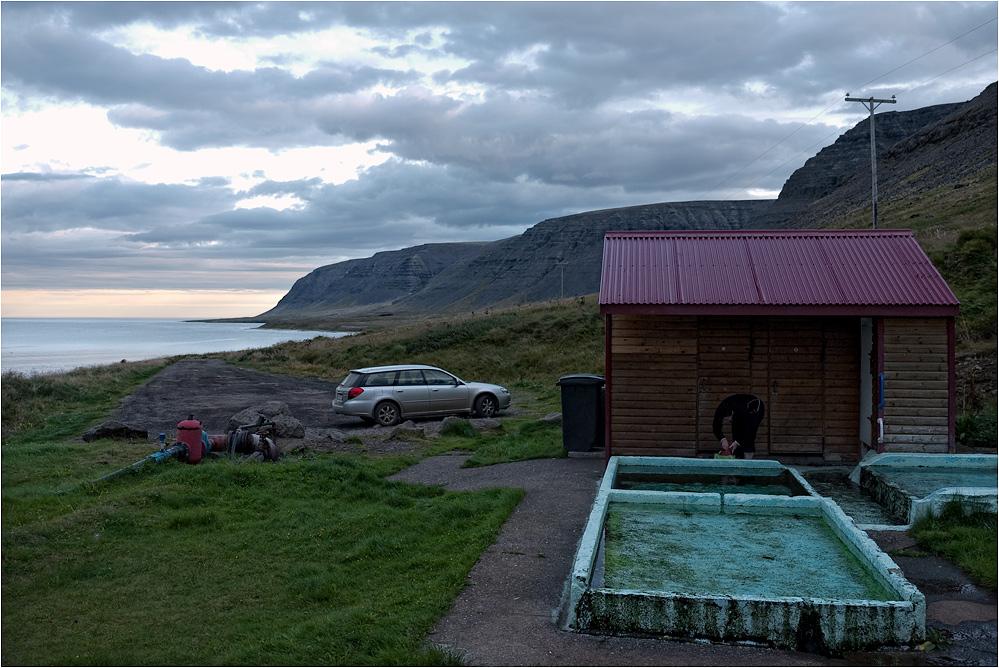 Ein modernes Schwimmbad...