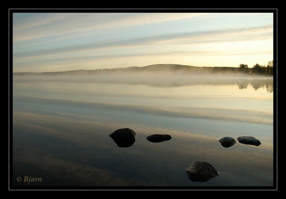 Ein Morgen in Lappland