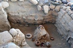 Ein Mumiengrab in Chauchilla