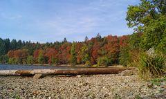 Ein Oktober-Nachmittag am Bergsee