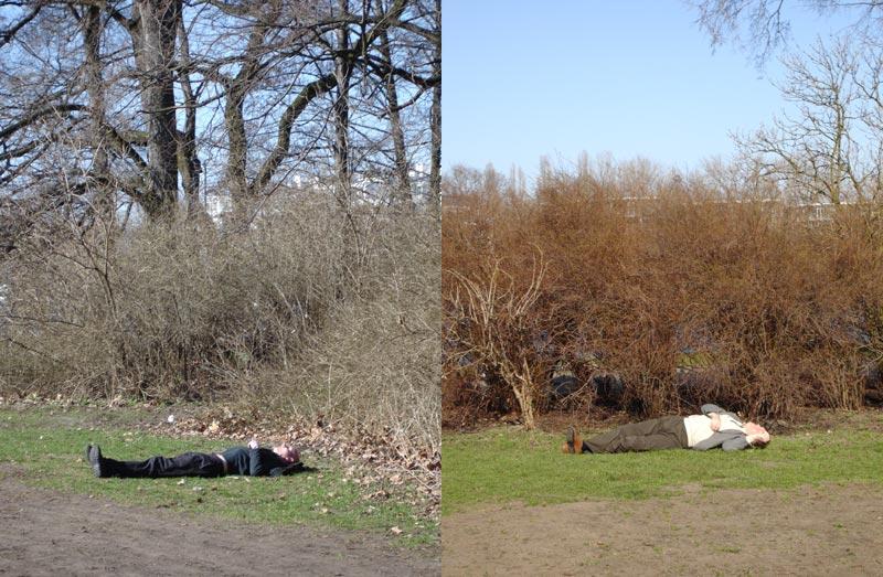 ein Park - ein Tag - Mann