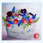 Ein Pott voller Mittwochsblümchen