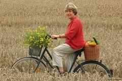 Ein Rad im Kornfeld