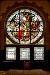 ein Rathausfenster von Quedlinburg