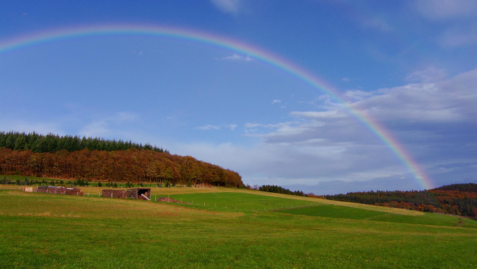 Ein Regenbogen über Ramersbach, im Herbst 2013!