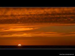 ein richtiger Sonnenuntergang