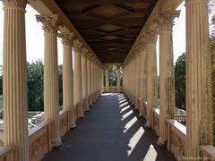 Ein Säulengang im Belvedere