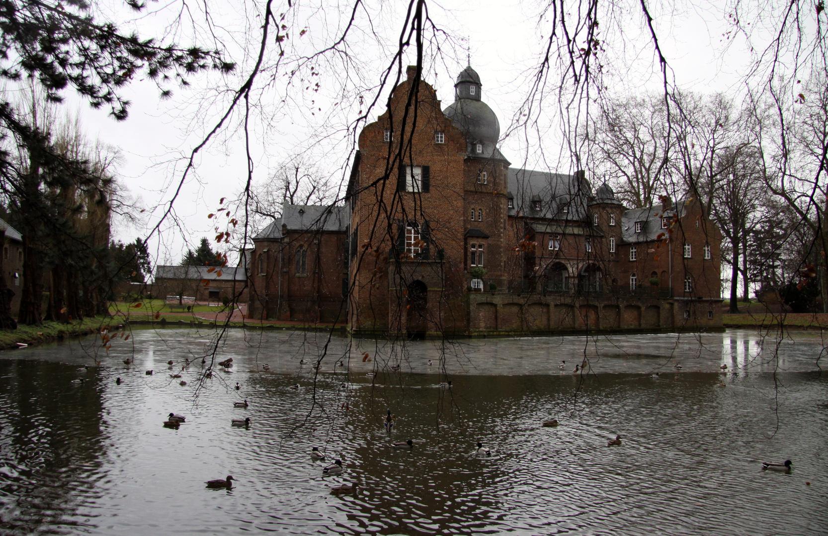 Ein Schloss im Winter