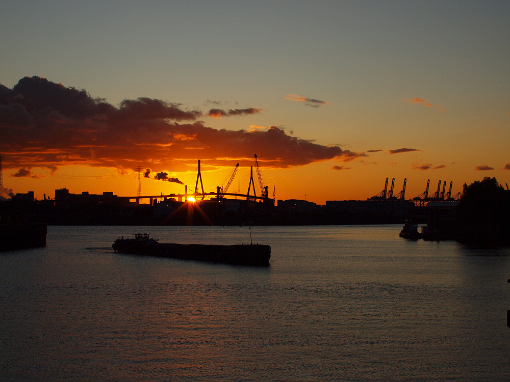 Ein schöner Abend am Hafen