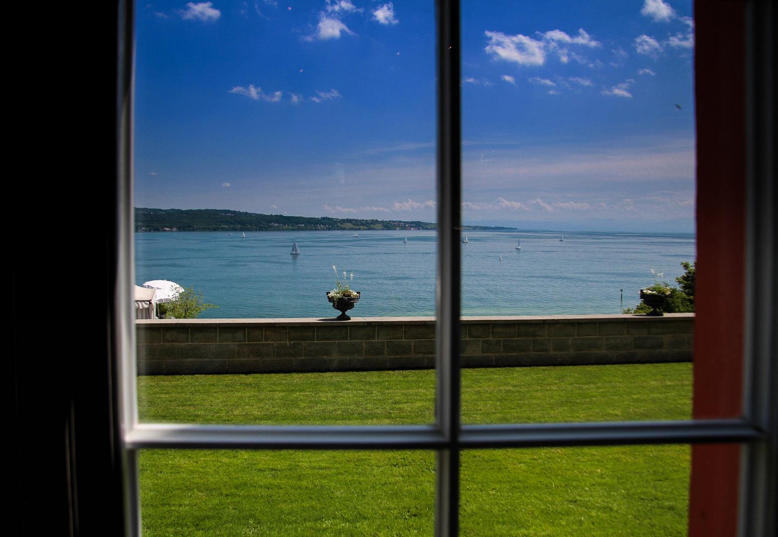 ein schöner Blick aus dem Fenster