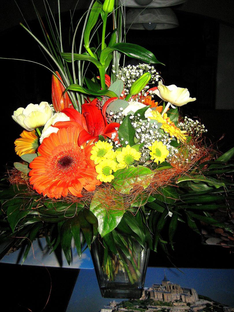 Ein schöner Blumenstrauß kann auch Berge versetzen !