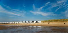 Ein schöner Strandtag Ende September an der Nordsee