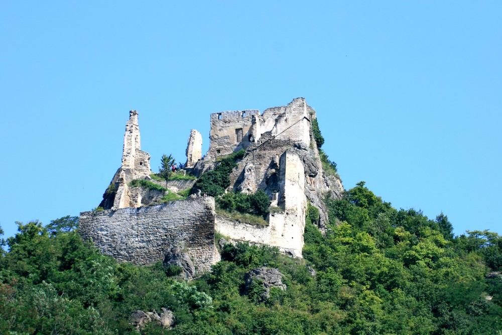 Ein schöner Tag auf der Ruine in Dürnstein