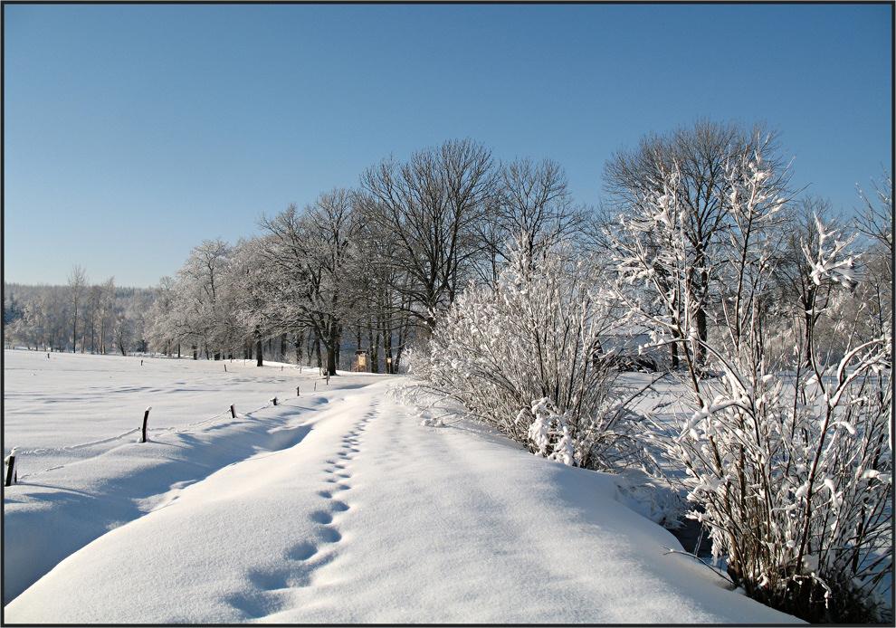 Ein schöner Wintertag im Erzgebirge