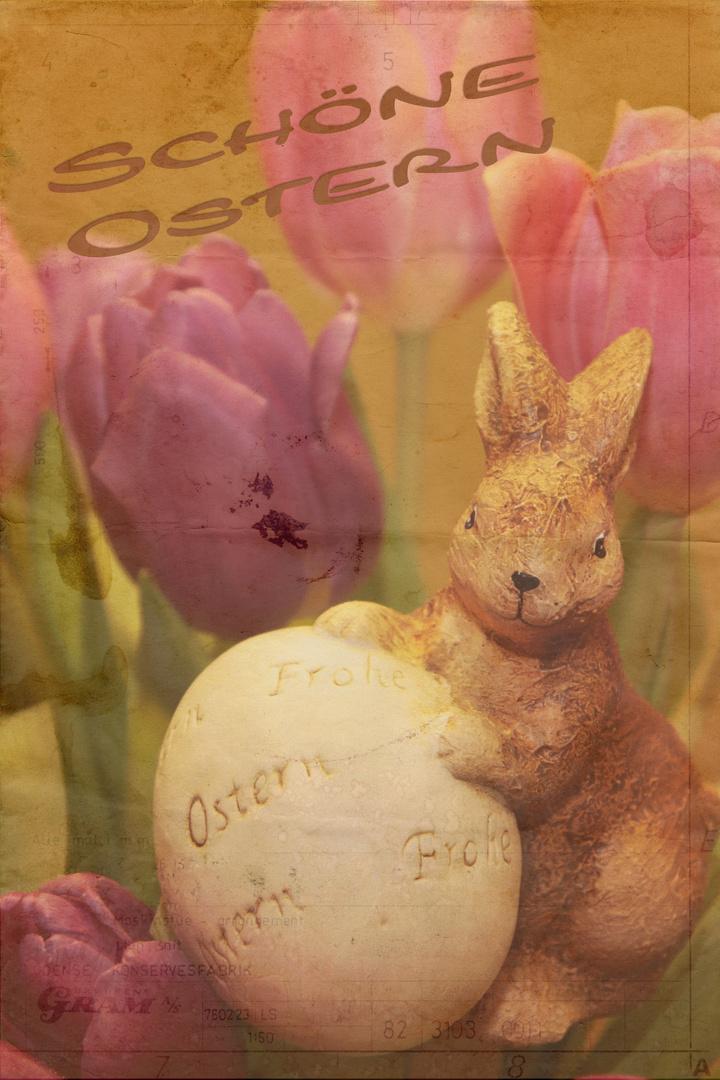 Ein schönes sonniges Osterfest wünsche ich allen