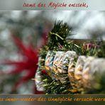 Ein schönes Weihnachtsfest, ruhige und besinnliche Weihnachtstage.