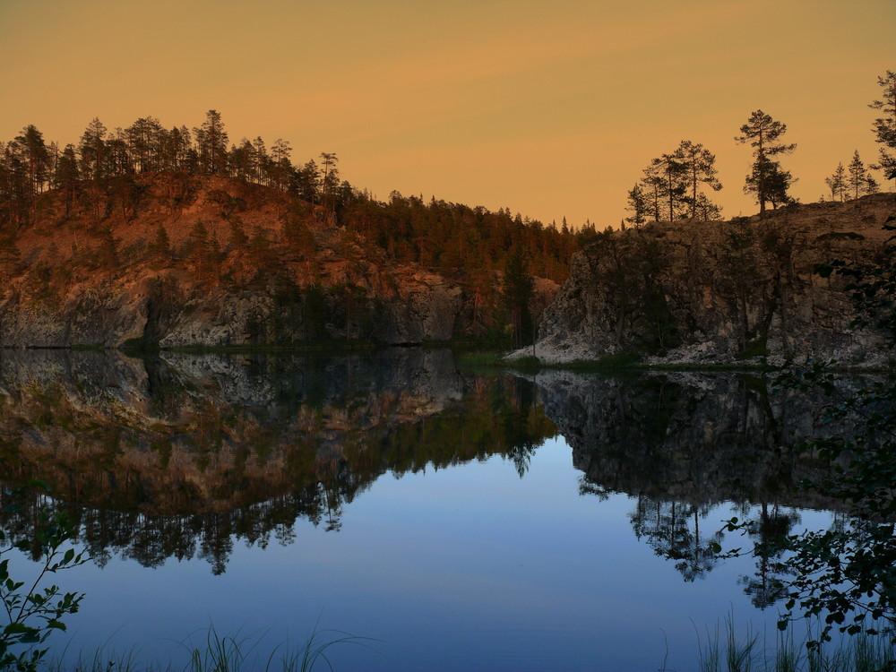 Ein See in Finnland