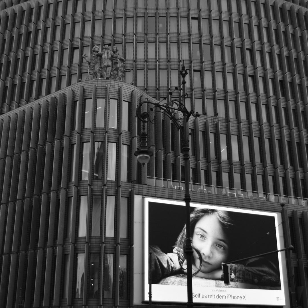 Ein Selfie mitten in Berlin