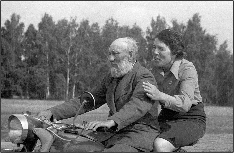 Ein sibirischer Kasake und seine Tochter
