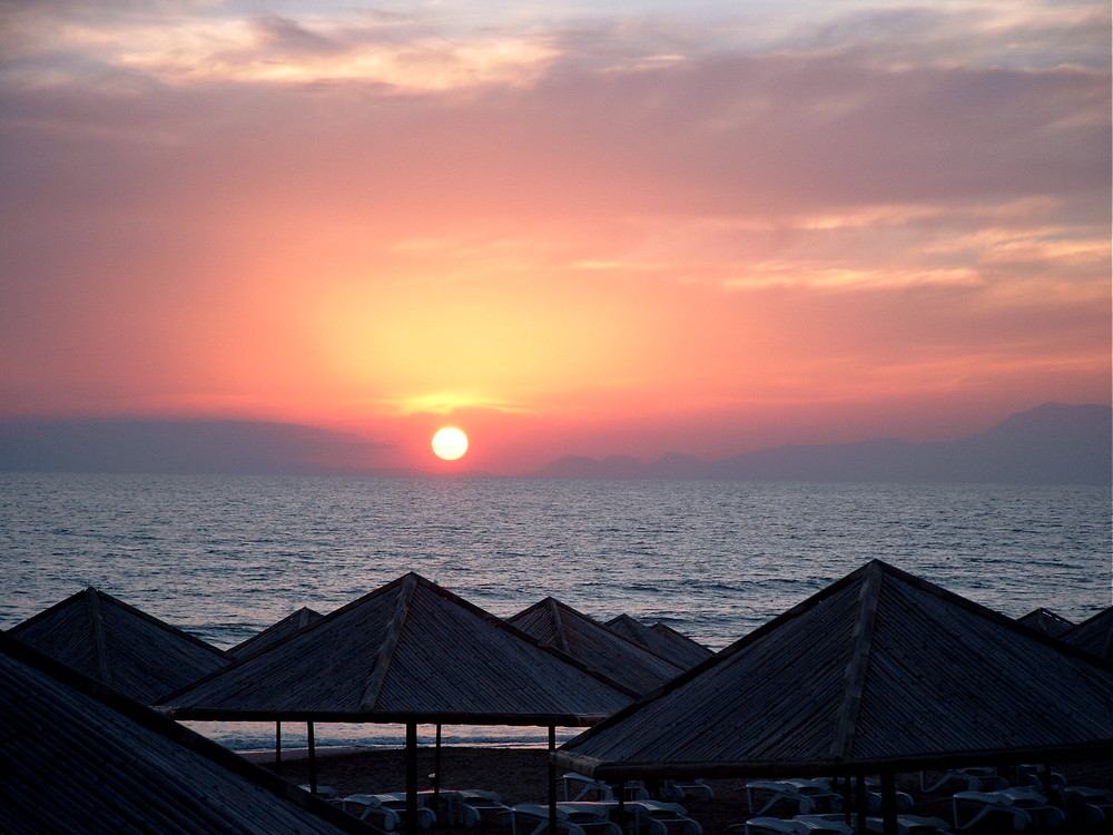ein Sonnenuntergang ..