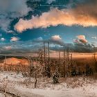 ein Sonnenuntergang auf dem Lusen im bayerischen Wald