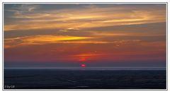 Ein Sonnenuntergang mit Blick auf die Nordsee