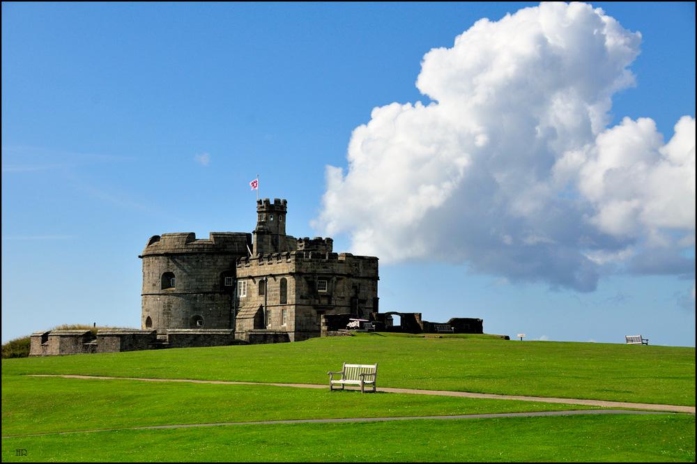 Ein Sonntagmorgen auf Pendennis-Castle / Südengland
