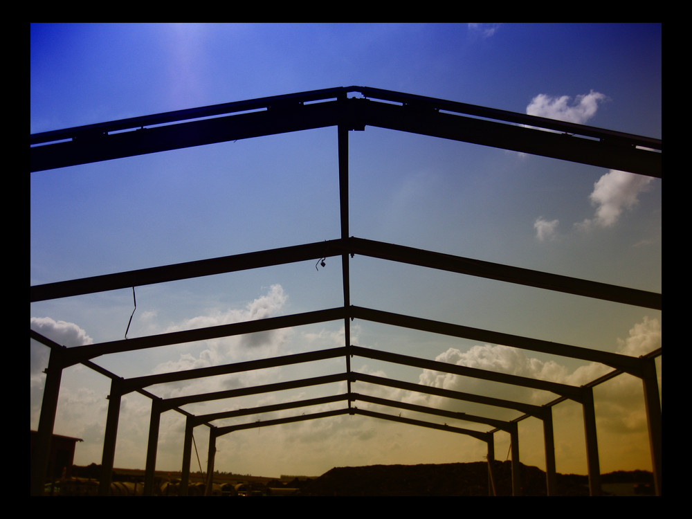 Ein Stahlbau