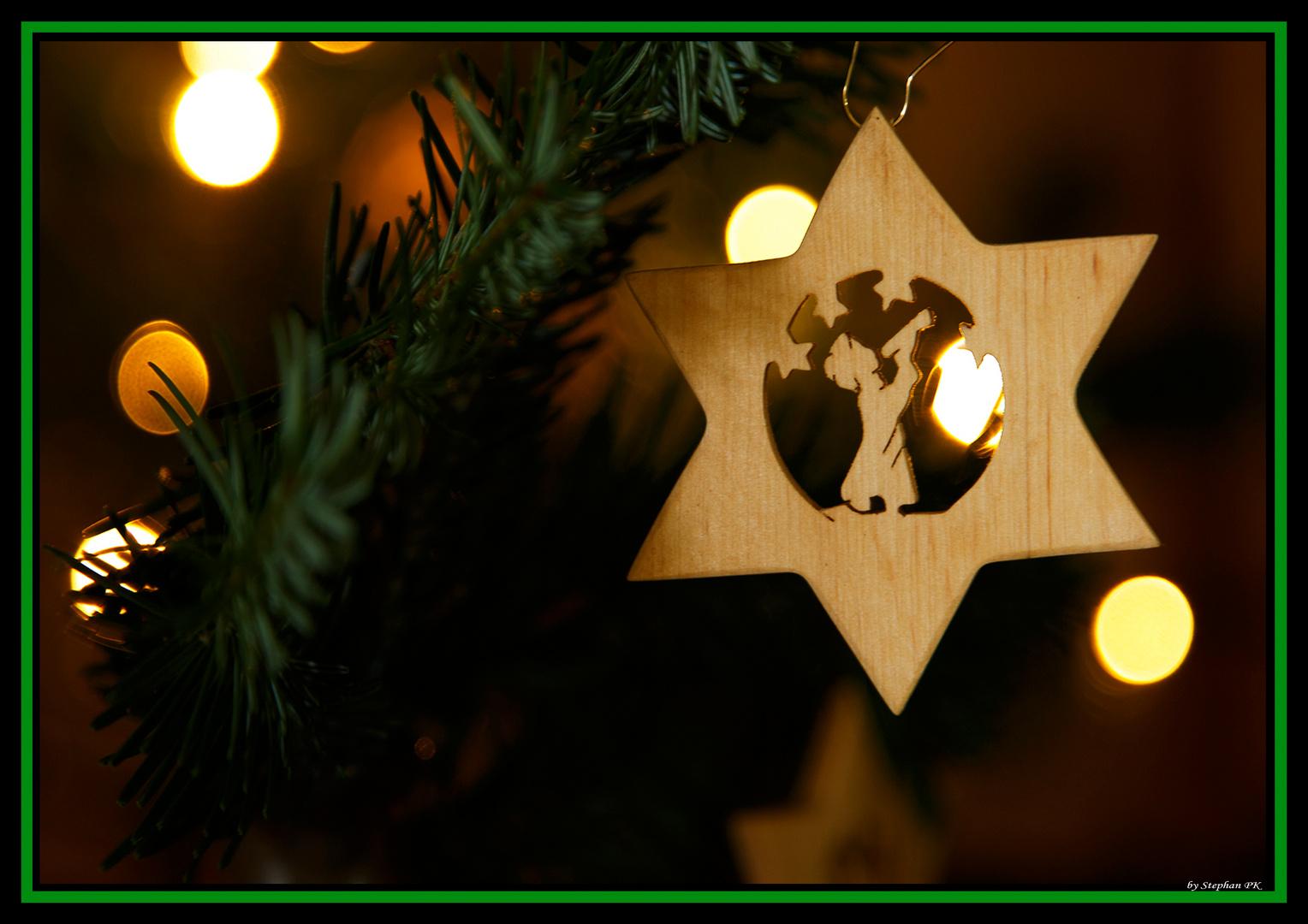 Ein Stern hängt am Baum