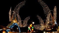 Ein Stern zeigt den Weg zum Weihnachtsmarkt