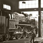 Ein stiller Moment auf dem Dresdener Dampflokfest