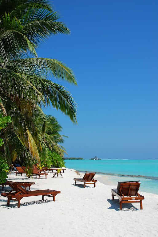 Ein Strand auf den Malediven