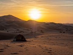 Ein Tag in der Wüste geht zu Ende
