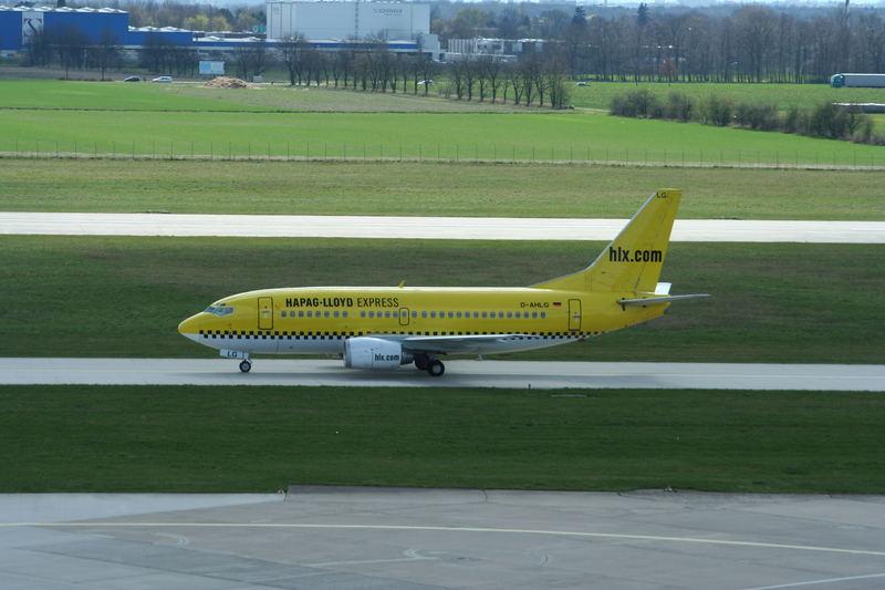 Ein Taxi in gelb