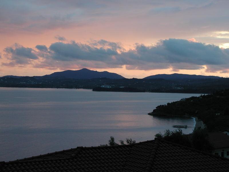 ein toller tag geht zu Ende auf Korfu
