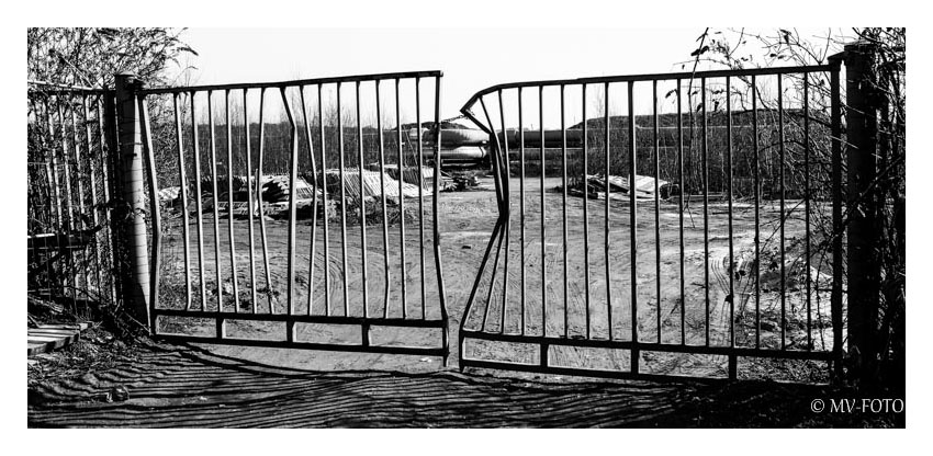 Ein Tor, das schon einmal bessere Zeiten sah