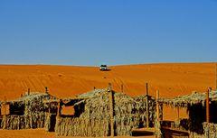 Ein Touristencamp in der Wüste Wahiba im Oman