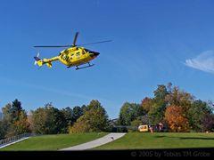 Ein Treffen zwischen der Bell UH 1D und einer BK 117...
