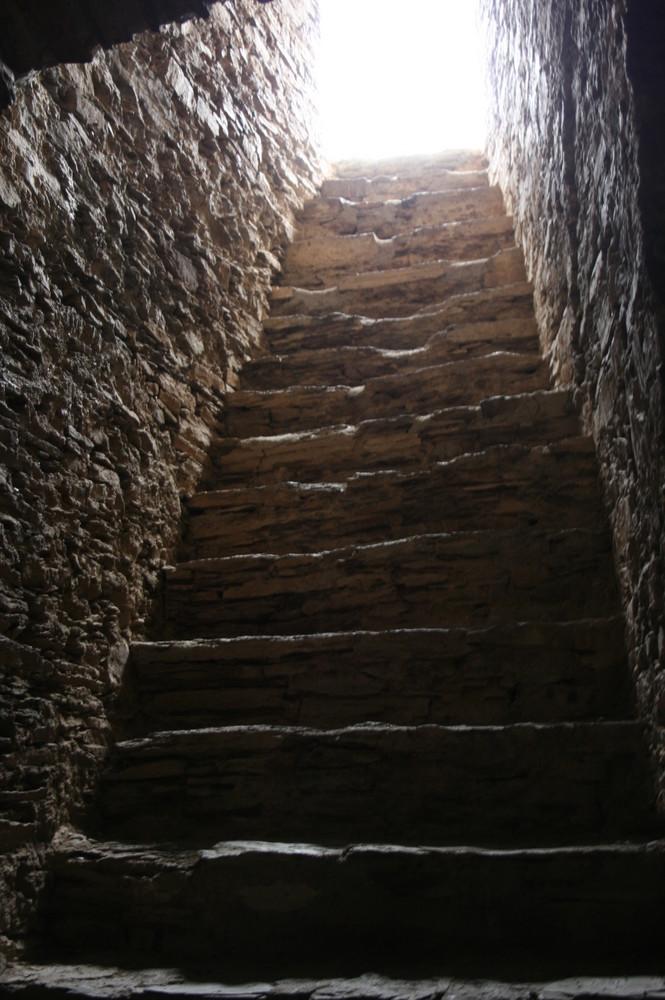 Ein Treppenaufgang in der Ehrenburg