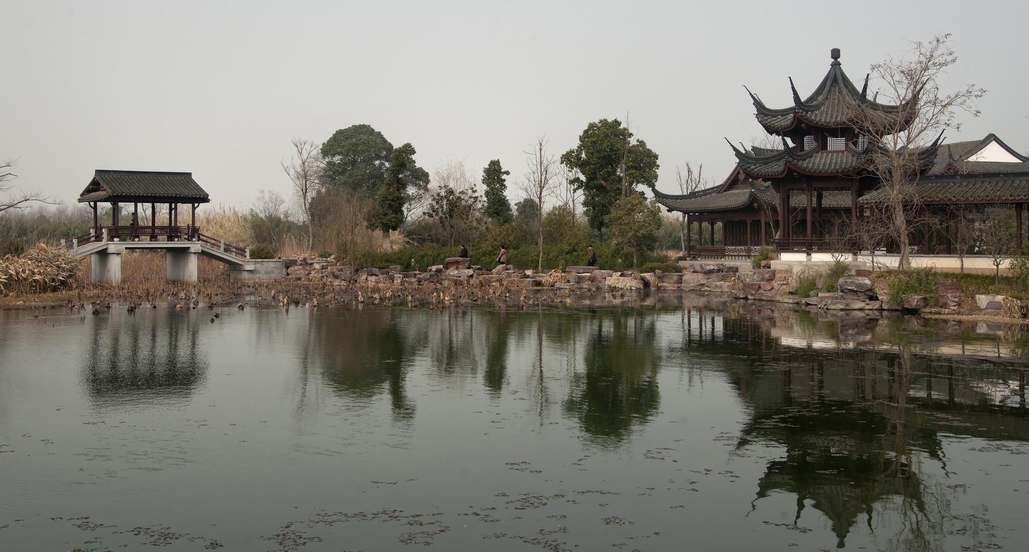 Ein trüber Tag in Hangzhou