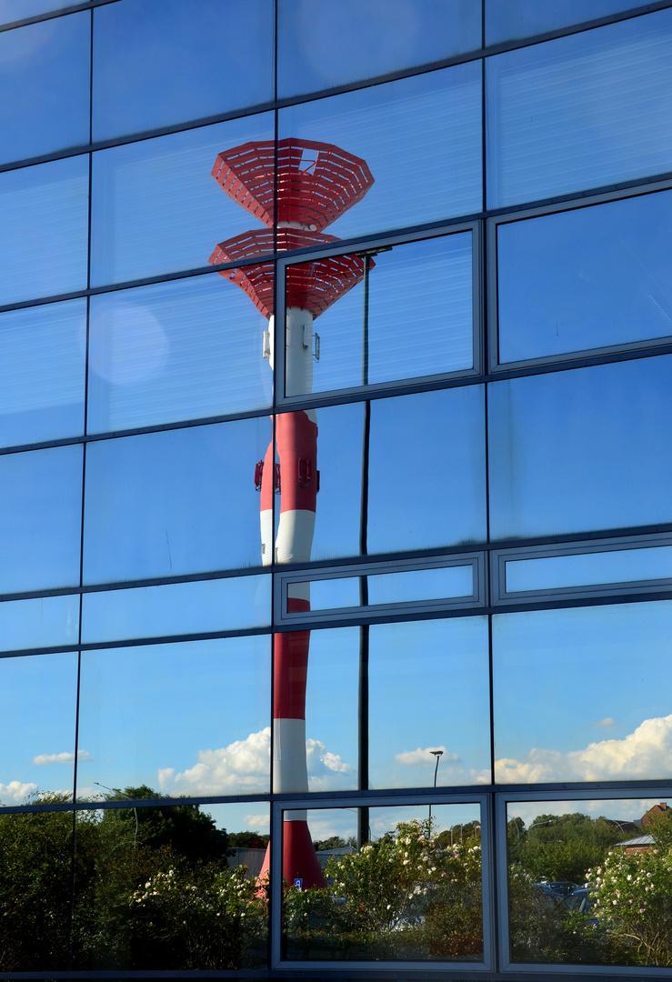 ein Turm, Oberfeuer im Fischereihafen von Bremerhaven