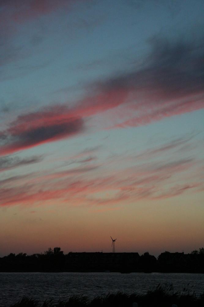 Ein typischer Sonnenuntergang auf Fehmarn