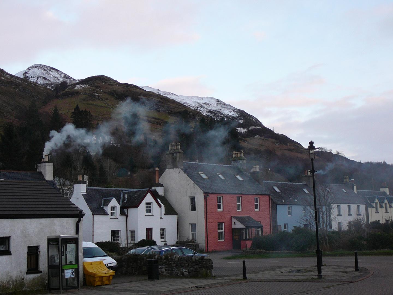 ein typisches schottisches Dorf