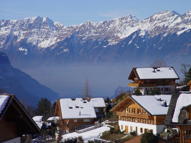 Ein typisches Schweizer Dörfli bei Hasliberg