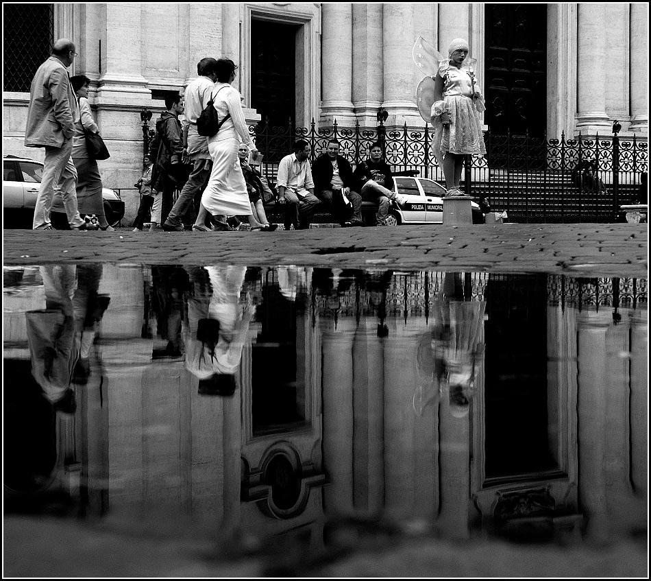 ein verärgerter Engel auf der Piazza Navona